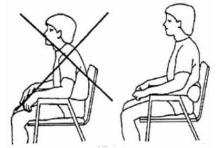 nepravilno sedenje